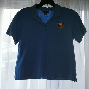 Women's 3 button down polo shirt